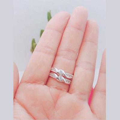 Nhẫn đôi cao cấp bằng bạc