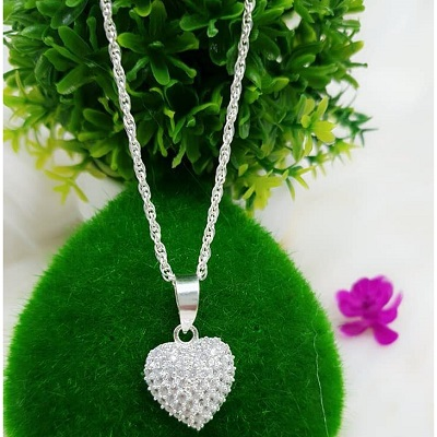 Dây bạc đẹp hình tim cho nữ