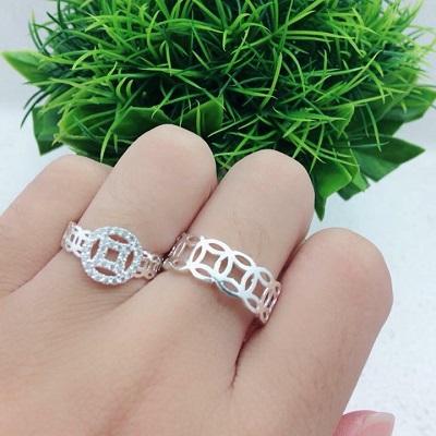 Nhẫn đôi bạc đẹp