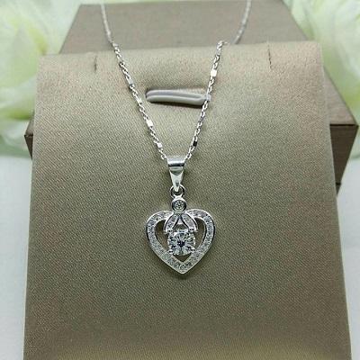 Dây chuyền bạc hình trái tim