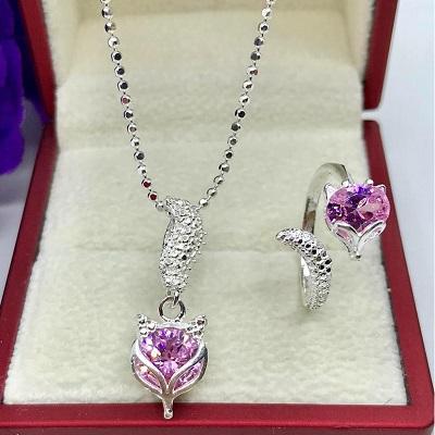 Bộ hồ ly màu hồng tím cho nữ